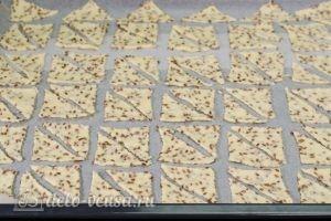 Печенье с семенами льна: Перекладываем на противень