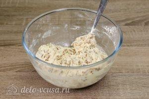 Печенье с семенами льна: Перемешать тесто