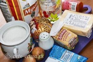 Пицца с вареной колбасой и сыром: Ингредиенты