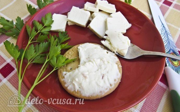 Плавленый сыр с ветчиной
