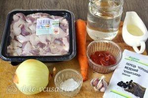 Подлива из куриных желудков: Ингредиенты