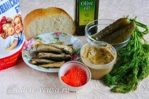 Бутерброды со шпротами: Ингредиенты