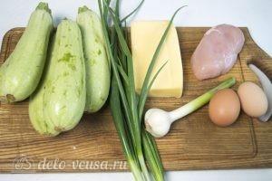 Фаршированные кабачки с курицей и сыром: Ингредиенты