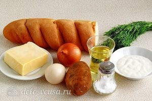 Горячие бутерброды с картофелем: Ингредиенты