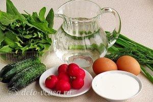 Холодник со щавелем: Ингредиенты