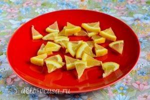 Имбирь с лимоном и медом: Нарезаем лимон