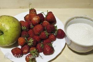 Компот из клубники и яблок: Ингредиенты