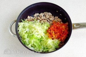 Тушеная капуста с овощами и мясом: Собрать все ингредиенты