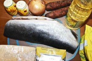 Запеченная красная рыба с овощами: Ингредиенты