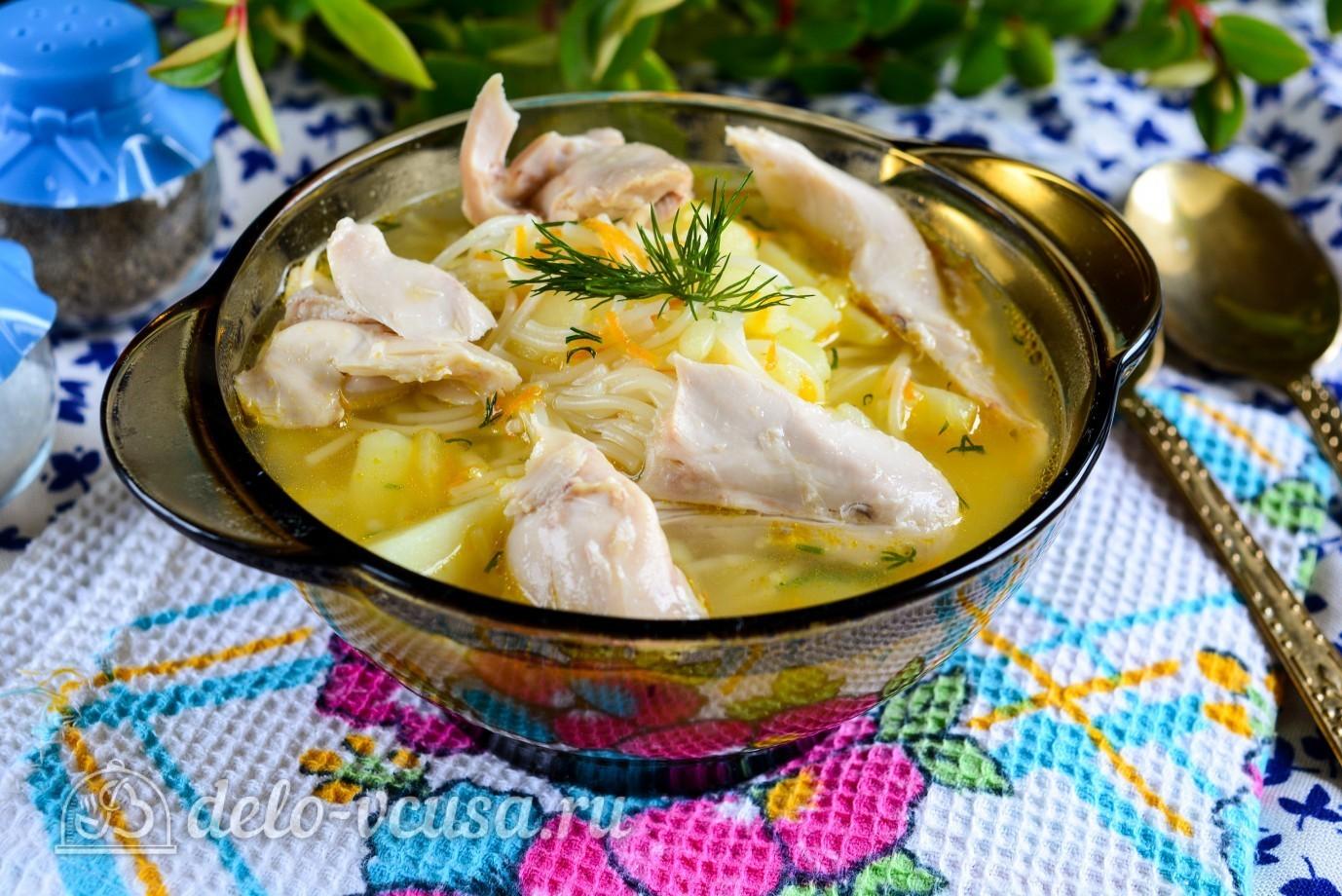 Рецепт куриный суп с вермишелью и картошкой