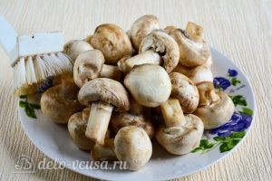 Маринованные шампиньоны в домашних условиях: Очистить грибы