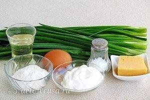 Оладьи с зеленым луком: Ингредиенты