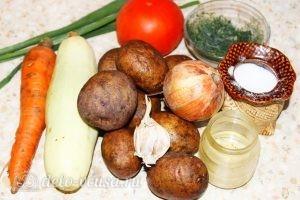 Овощное рагу с кабачками: Ингредиенты