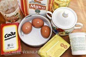 Печенье на кефире: Ингредиенты