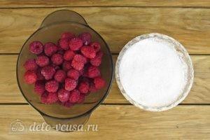 Перетертая малина с сахаром: Ингредиенты