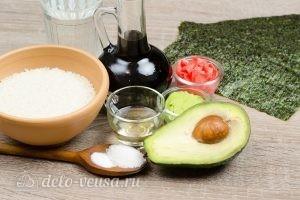 Роллы с авокадо Авокадо маки: Ингредиенты