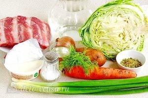 Щи из свежей капусты с плавленым сыром: Ингредиенты