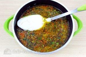 Щи из свежей капусты с плавленым сыром: Добавить сыр