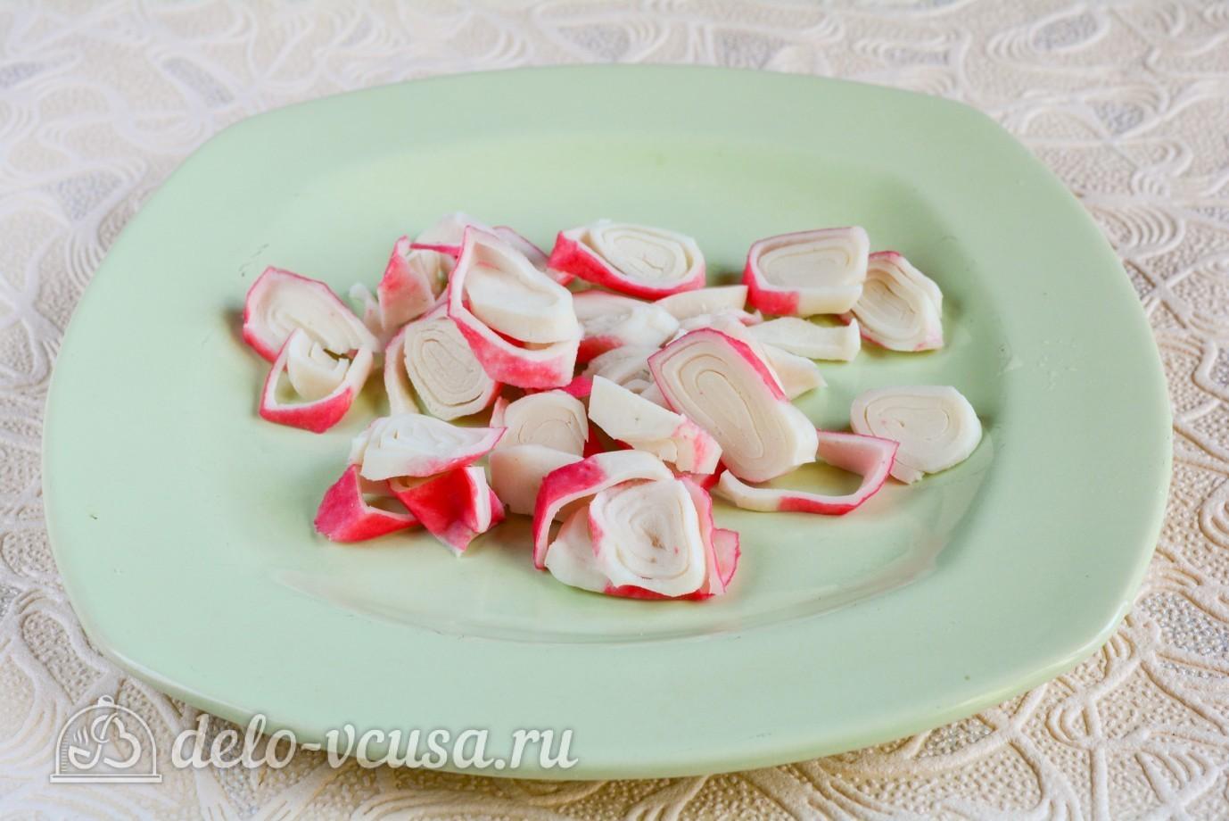 рецепт салата с крабовым мясом и с сыром