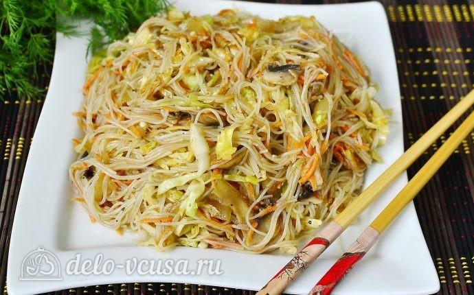 Рецепт салат фунчоза с грибами