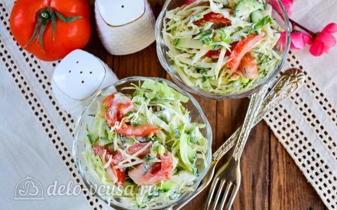 Салат с помидорами огурцами и картошкой