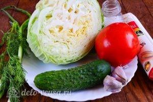 Салат из капусты, огурцов и помидоров: Ингредиенты