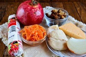 Салат с корейской морковкой и курицей: Ингредиенты