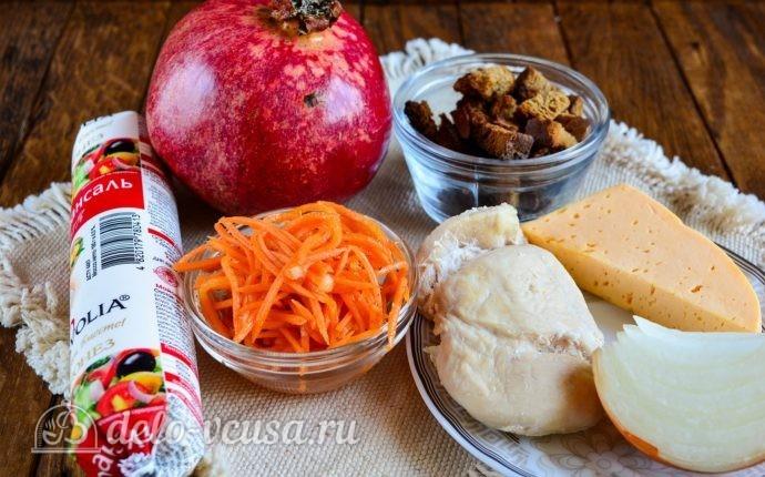салат люция с курицей и морковкой рецепт