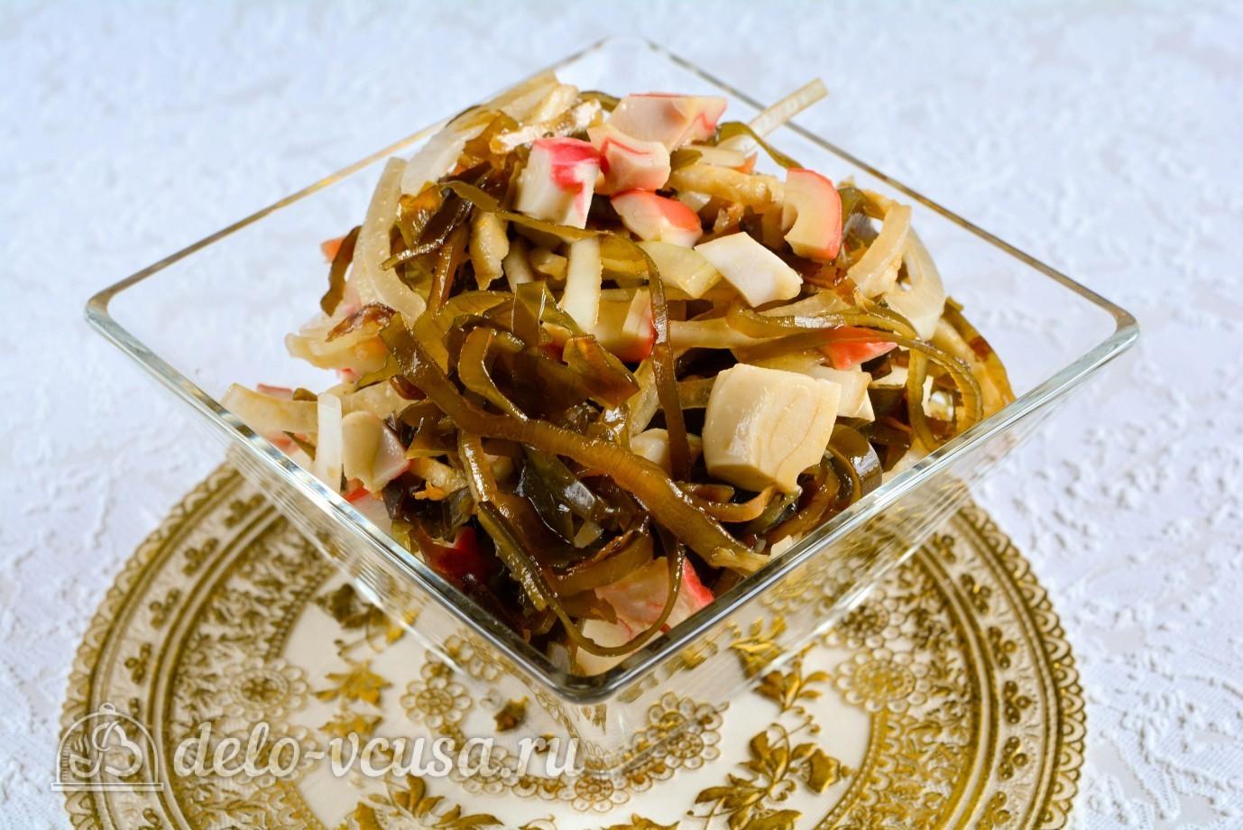 салаты с морской капустой и крабовыми палочками
