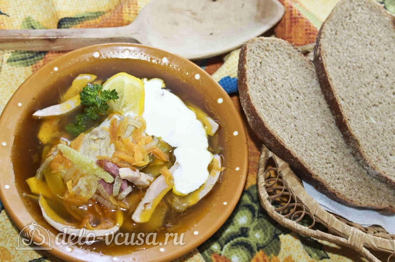 Пошаговый, Солянка с колбасой, рецепты с фото на m: 39