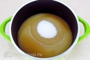 Мятный сироп: Добавить сахар