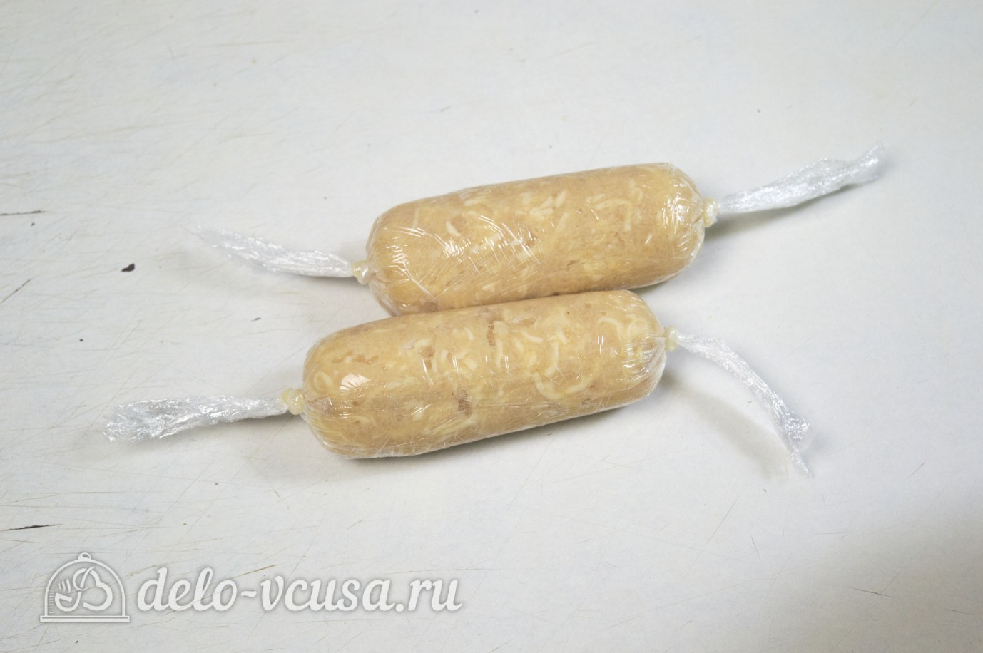 Сосиски куриные с сыром: Определить размер сосисок