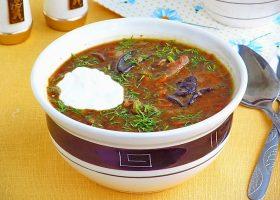 Гороховый суп с грибами