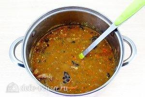 Гороховый суп с грибами: Поварить суп