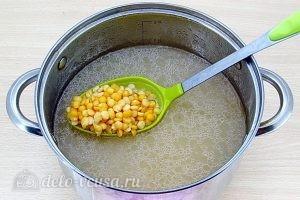Гороховый суп с грибами: Разварить горох