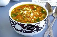 Суп из вермишели быстрого приготовления