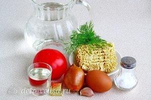 Суп из вермишели быстрого приготовления: Ингредиенты