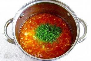 Суп из вермишели быстрого приготовления: фото к шагу 13