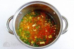 Суп из вермишели быстрого приготовления: фото к шагу 14