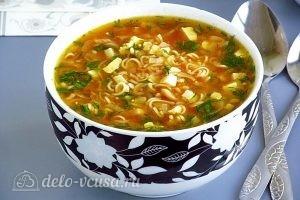 Суп из вермишели быстрого приготовления: фото к шагу 15