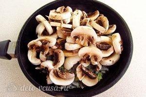 Почки с фасолью: Добавляем шампиньоны