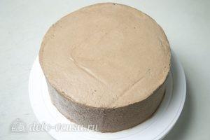 Торт Прага по ГОСТу: Разровнять торт