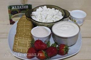 Торт из печенья с творогом и клубникой: Ингредиенты