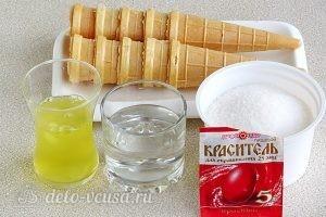 Вафельные рожки с кремом: Ингредиенты