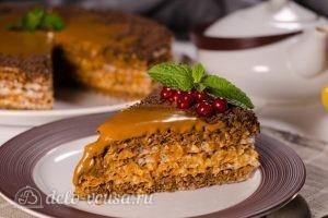 Вафельный торт со сгущенкой готов