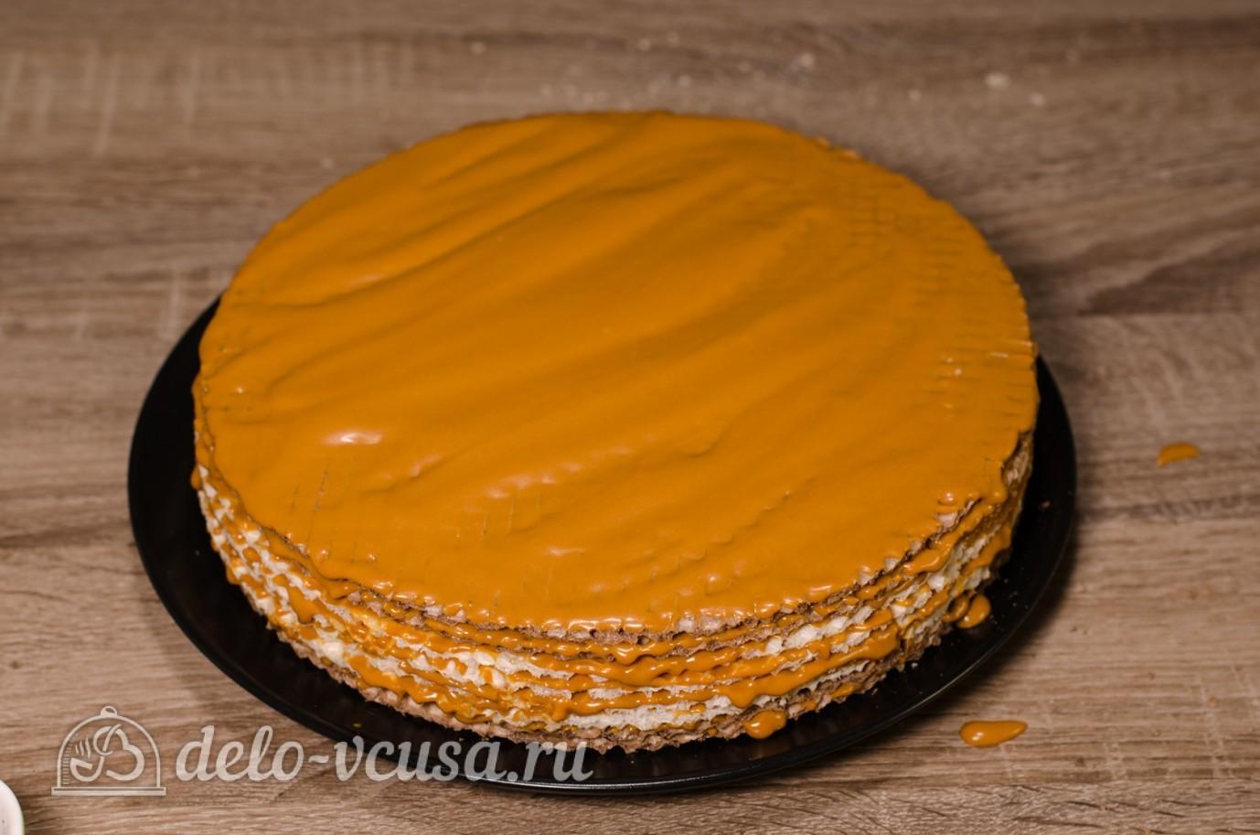 Рецепт вафельного торта со сгущенкой и вареньем