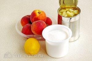Варенье из персиков и консервированных ананасов: Ингредиенты