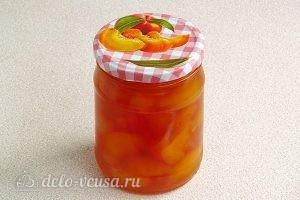 Варенье из персиков и консервированных ананасов