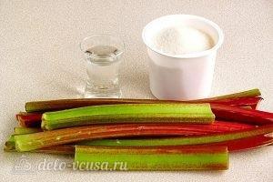 Варенье из ревеня в мультиварке: Ингредиенты