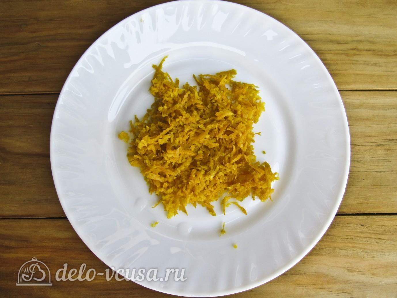 Варенье из сливы с апельсином: Снимаем цедру с апельсина